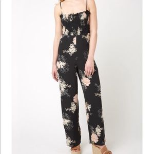 Bishop + young floral jumpsuit